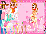 Pink Heart Dressup online game