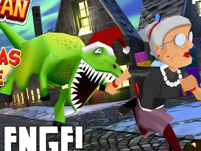 Angry Gran Run Christmas Village online hra
