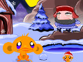 Monkey Go Happy North Pole online hra