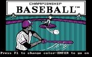 Championship Baseball online game
