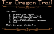 Oregon Trail, The online hra