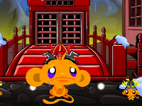 Monkey Go Happy Ninjas 3 online hra