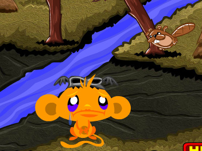 Monkey GO Happy Bats oнлайн-игра