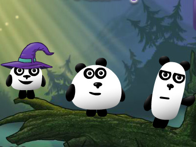 3 Pandas in Fantasy online game