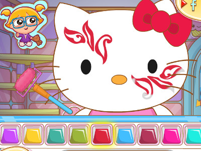 Hello Kitty Face Painting online hra