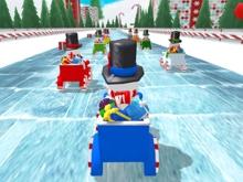 Snowman Christmas Racing online hra