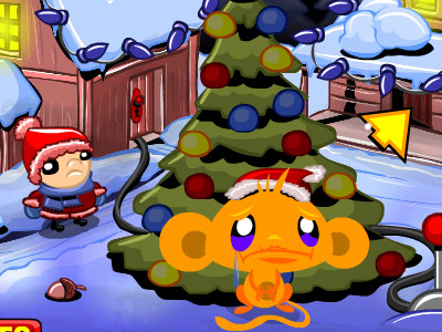Monkey Go Happy Xmas Tree online game