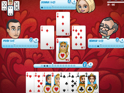 Hearts Card online game