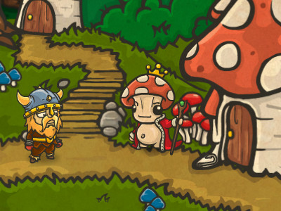 Bad Viking and the Curse of the Mushroom King online hra