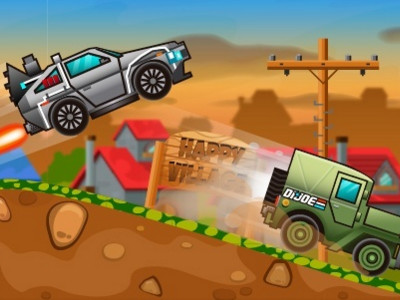 Happy Wheels Racing Movie Cars online game
