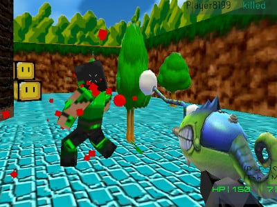 Paintball Fun: 3D pixel  online game