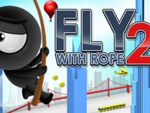 Fly with Rope 2 online hra