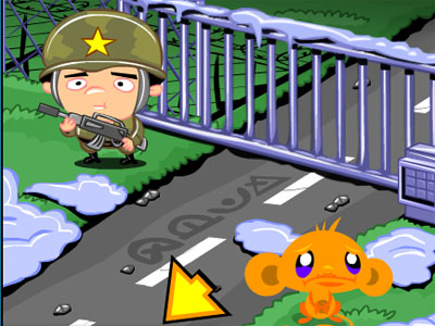 Monkey Go Happy Army Base online hra