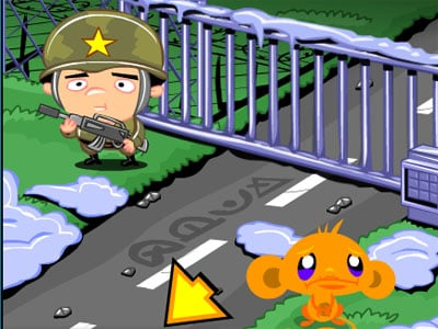 Monkey Go Happy Army Base oнлайн-игра