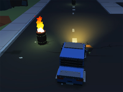 Blocky Zombie Highway online game