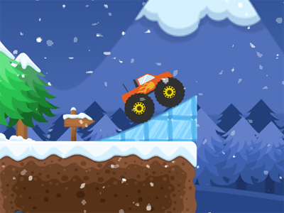 Monster Truck Winter Jumps online hra