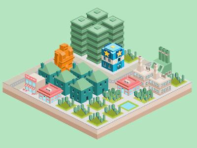 Toy Box Metropolis online hra