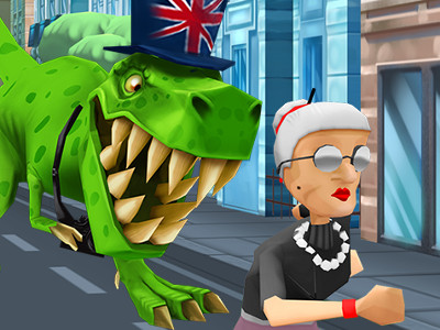 Angry Gran Run London online hra