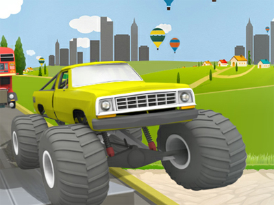 Uphill Climb Racing online game
