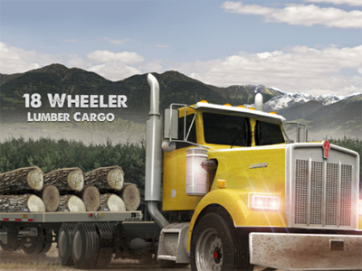 18 Wheeler Lumber Cargo online hra