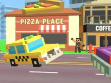 Pixel Road Taxi Depot online game
