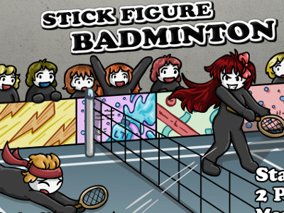 Stick Figure Badminton 3 online game