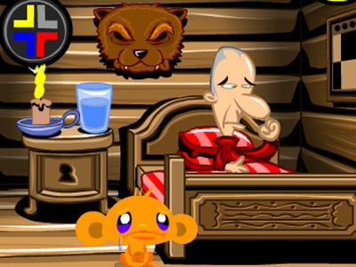 Monkey Go Happy Cabin Escape online hra