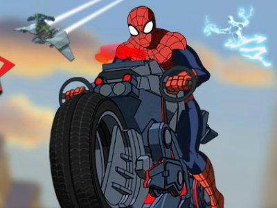 Ultimate Spider-Man Cycle online game