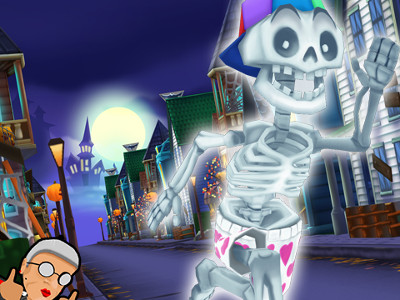 Angry Gran Run - Halloween Village online game