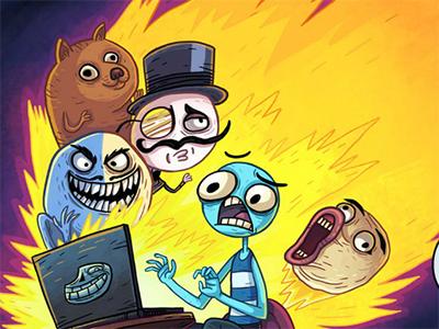 Trollface Quest Internet Memes juego en línea