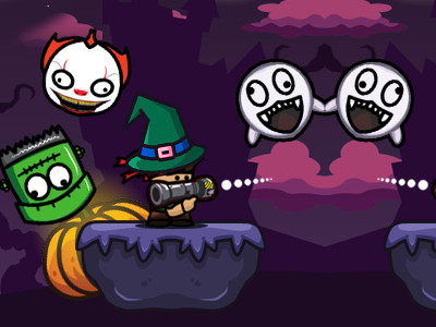 Bazooka and Monster 2 Halloween online game