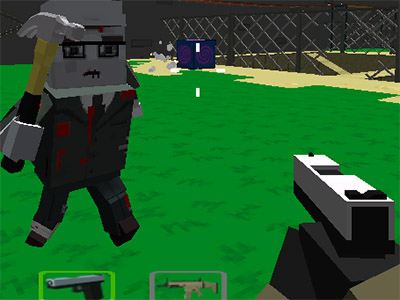 Cube Arena Zombie Warfare online game