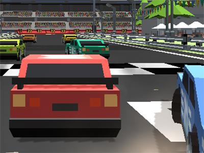 Pixel Racing 3D juego en línea