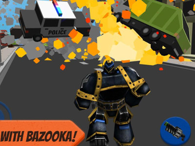 Robot Hero: City Simulator 3D online game