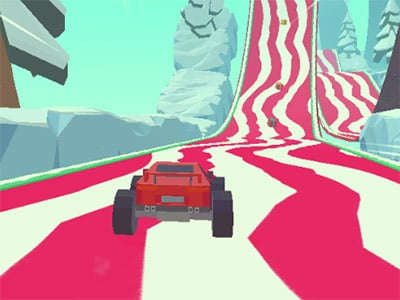 3D Monster Trucks: IcyRoads online hra
