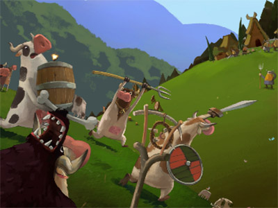 Cows vs Vikings online hra