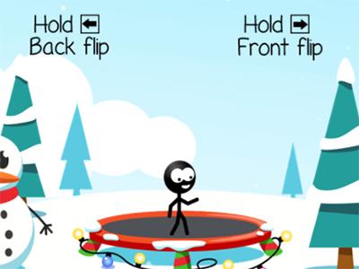 Trampoline Stickman online game