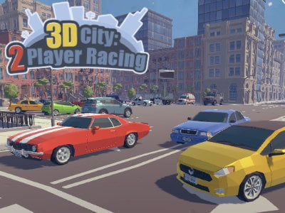 3D City: 2 Player Racing online hra
