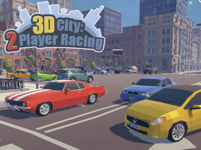 3D City: 2 Player Racing online game