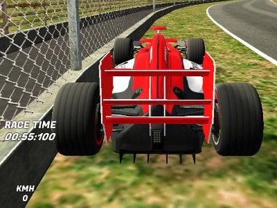 3D Formula Racing online game
