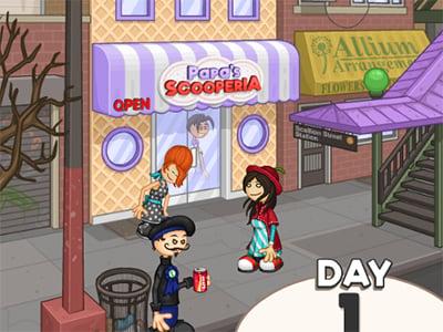 Papa's Scooperia online hra