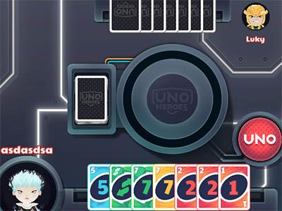 UNO Heroes online hra