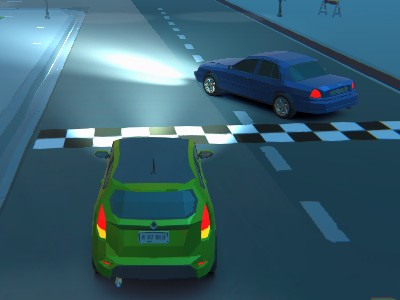 3D Night City: 2 Player Racing online game