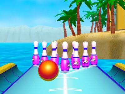 Beach Bowling 3D online game