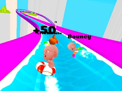 Slippery Water Slides online game