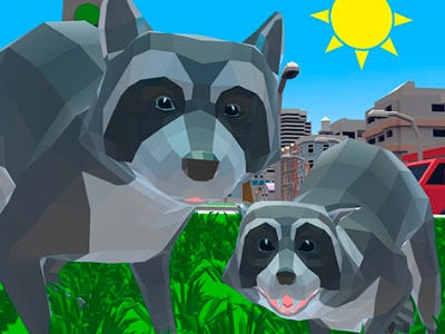 Raccoon Adventure: City Simulator 3D online game