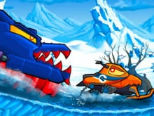 Car Eats Car: Winter Adventure online hra