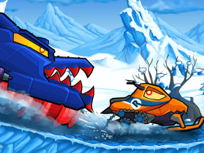Car Eats Car: Winter Adventure oнлайн-игра