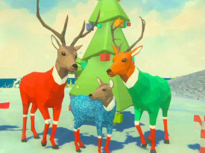 Deer Simulator Christmas oнлайн-игра
