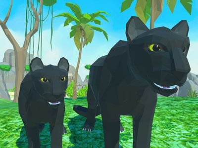Panther Family Simulator 3D online game